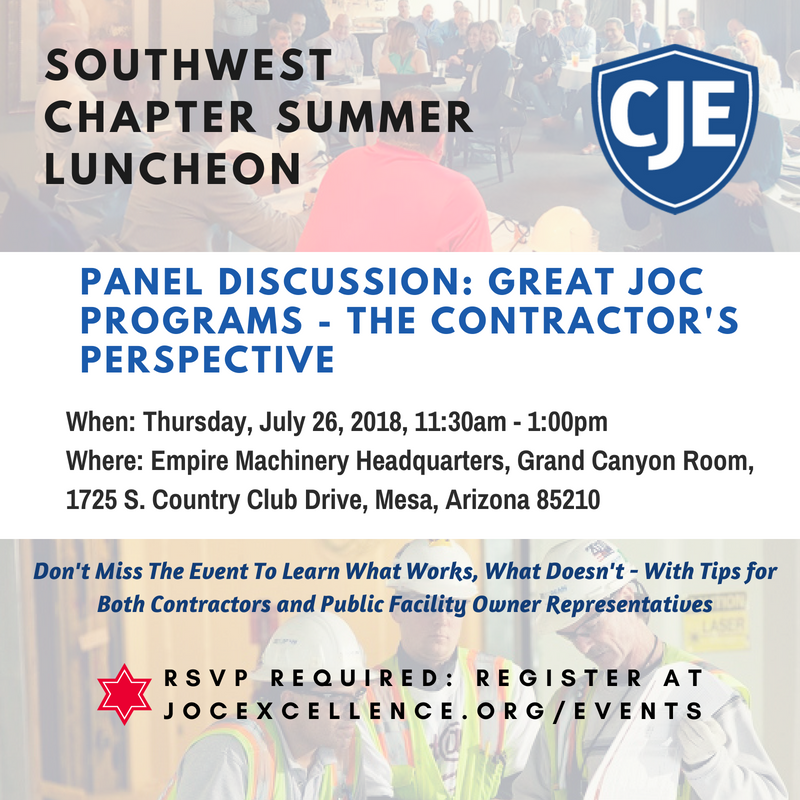Southwest Chapter Summer Luncheon: Great JOC Programs - The Contractor's Perspective @ Empire Machinery Headquarters | Mesa | Arizona | United States